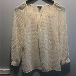 J Crew sheer blouse